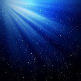 Rays of light and stars Stock Photo