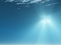 Rays of light underwater Stock Photos