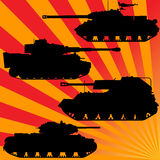 Rays and military equipment Stock Photography