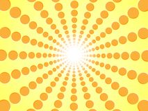 Rays of orange. Yellow abstract sun burst background - gradient sunlight vector graphic design from radial beautiful orange circle Stock Images