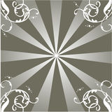 Rays ornament. Work with vectors illustration Stock Image