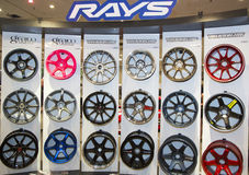 Rays rims on display in New York Stock Photo