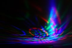 Rays of a searchlight in a disco royalty free stock photo