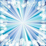 Rays and snowflakes. Stock Images
