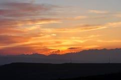 rays solnedgång Royaltyfria Bilder