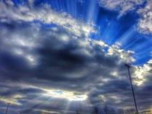 rays solsken Arkivfoto