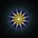 rays starburst royaltyfri illustrationer