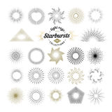 Rays and starburst design elements Royalty Free Stock Photography