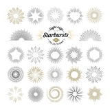 Rays and starburst design elements Royalty Free Stock Photos
