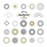 Rays and starburst design elements Royalty Free Stock Image