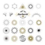 Rays and starburst design elements Stock Photos