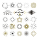 Rays and starburst design elements Royalty Free Stock Photo