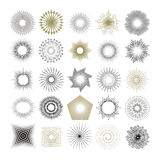 Rays and starburst design elements Stock Image