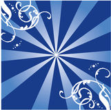 Rays Style. Work with vectors illustration Stock Photos