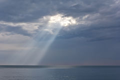 Rays of sun. Rays of sun shining through the clouds Royalty Free Stock Photos