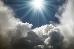 Rays of the sun Royalty Free Stock Image