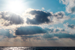 The rays of the sun breaking through clouds Royalty Free Stock Photography