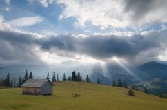 Rays of the sun through the clouds Royalty Free Stock Image