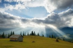 Rays of the sun through the clouds Royalty Free Stock Photos
