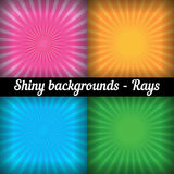 Rays. Sunburst Pattern. Vector set of different Stock Images