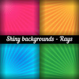 Rays. Sunburst Pattern. Vector set of different Royalty Free Stock Photos