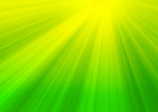 Rays of sunlight. Sunlight rays on green background Royalty Free Stock Photos