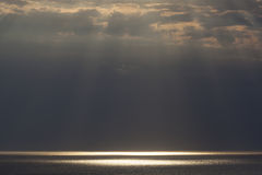 Rays of Sunlight in Etretat Royalty Free Stock Photography