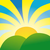 Rays of sunshine (vector). Rays of sunshine (from cmyk to rgb Royalty Free Stock Photo