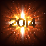 2014 rays. Vector 2014 new year text with rays coming out Stock Images