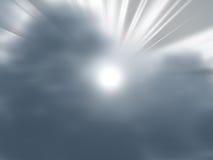 rays white Royaltyfria Bilder