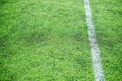 Rayure blanche sur le terrain de football Photographie stock libre de droits