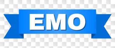 Rayure bleue avec EMO Text illustration stock