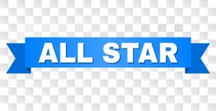 Rayure bleue avec la légende d'ALL STAR illustration stock