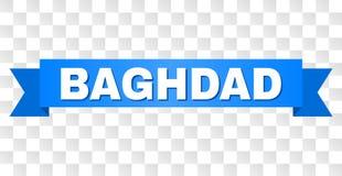 Rayure bleue avec la légende de BAGDAD illustration de vecteur