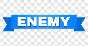 Rayure bleue avec le texte ENNEMI illustration stock