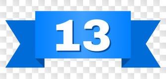 Rayure bleue avec le titre 13 illustration de vecteur