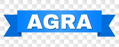 Rayure bleue avec le titre d'ÂGRÂ illustration de vecteur