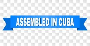 Rayure bleue avec RÉUNI EN texte du CUBA illustration stock