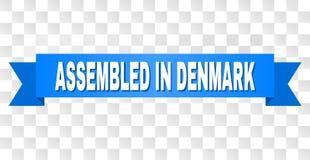 Rayure bleue avec RÉUNI EN texte du DANEMARK illustration de vecteur