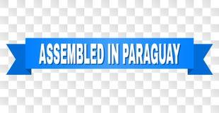 Rayure bleue avec RÉUNI EN texte du PARAGUAY illustration stock
