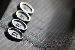 Rayure de costume de bouton Photo stock