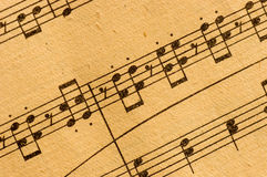 Rayure de musique classique de cru Photo libre de droits