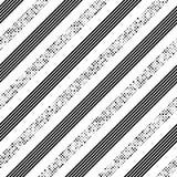 Rayure et Dot Pattern diagonaux sans couture Images libres de droits