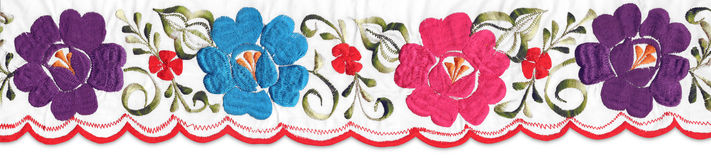 Rayure florale mexicaine image libre de droits