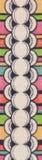 Rayure folklorique de tissu Images stock