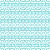 Rayure juive bleue d'étoile d'Aqua Photographie stock
