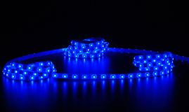 Rayure menée bleue Images stock