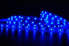 Rayure menée bleue Photographie stock