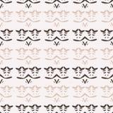 Rayures Art Texture Seamless Vector Pattern folklorique de résumé Hiver Boho blanc illustration libre de droits