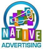 Rayures colorées de cercle de la publicité indigène Photos libres de droits